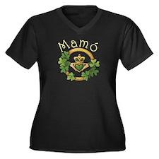 Grandma Plus Size V-Neck Dark T-Shirt