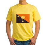 Orange Purple SC Flag Yellow T-Shirt