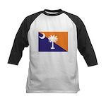 Orange Purple SC Flag Kids Baseball Jersey