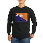 Orange Purple SC Flag Long Sleeve Dark T-Shirt