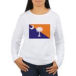 Orange Purple SC Flag Women's Long Sleeve T-Shirt
