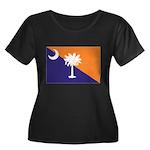 Orange Purple SC Flag Women's Plus Size Scoop Neck