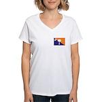 Orange Purple SC Flag Women's V-Neck T-Shirt