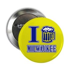 I BEER MILWAUKEE Button