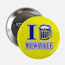 I BEER MILWAUKEE Button
