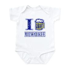 I BEER MILWAUKEE Infant Bodysuit