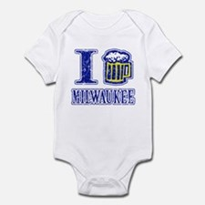 I BEER MILWAUKEE Infant Bodysuit