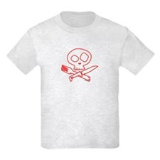 Red Foodie Skull T-Shirt