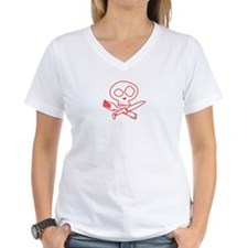 Red Foodie Skull Shirt