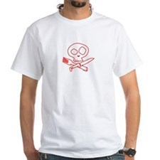 Red Foodie Skull Shirt