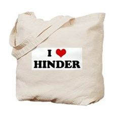 I Love HINDER Tote Bag
