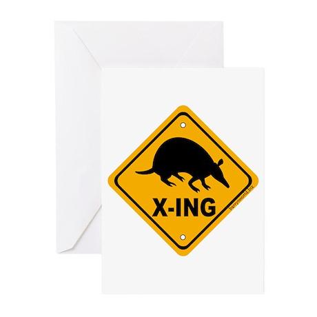 Armadillo X-ing Greeting Cards (Pk of 20)