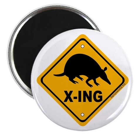 "Armadillo X-ing 2.25"" Magnet (10 pack)"