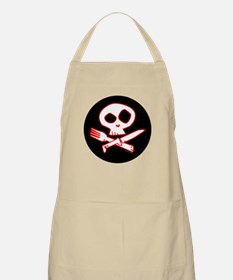 Red Foodie Skull BBQ Apron