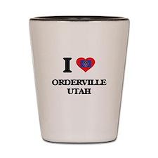 I love Orderville Utah Shot Glass
