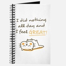 Cute Lazy Kitty Cat Do Nothing Amusing Journal