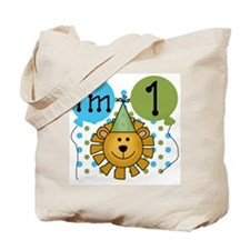 Lion 1st Birthday Tote Bag