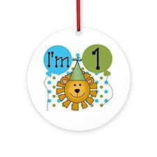 Lion 1st Birthday Ornament (Round)