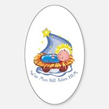 Wise Men Adore HIM Oval Decal