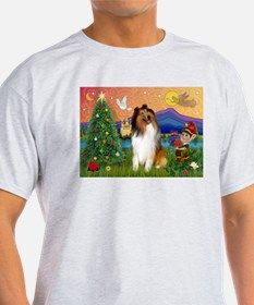 Xmas Fantasy/Collie T-Shirt