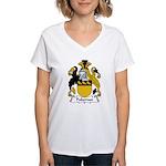 Pakeman Family Crest Women's V-Neck T-Shirt
