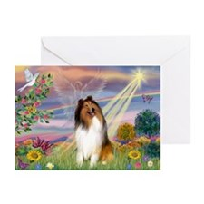 Cloud Angel & Collie Greeting Cards (Pk of 20)
