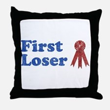 Second Place, First Loser Throw Pillow