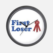 Second Place, First Loser Wall Clock