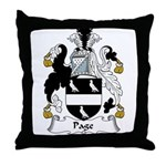 Page Family Crest Throw Pillow