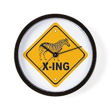 Zebra X-ing Wall Clock