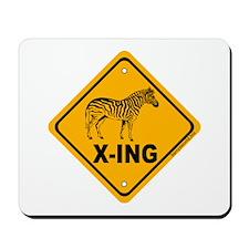 Zebra X-ing Mousepad