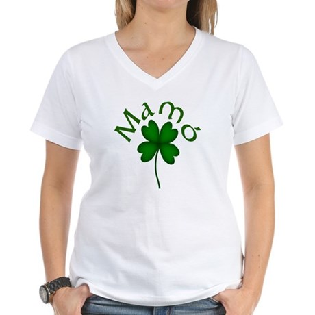 Grandma (Shamrock) Women's V-Neck T-Shirt