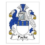 Packe Family Crest Small Poster