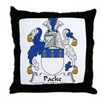 Packe Family Crest Throw Pillow
