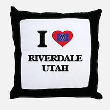 I love Riverdale Utah Throw Pillow