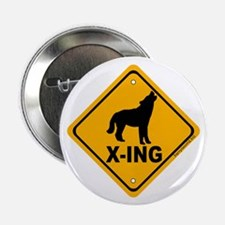 "Wolf X-ing 2.25"" Button (10 pack)"