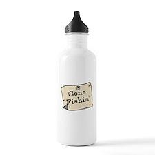 Gone Fishin Water Bottle