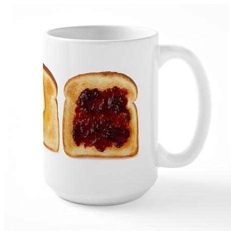 3 Toasts Large Mug