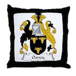 Oxney Family Crest Throw Pillow