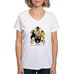 Oxney Family Crest Women's V-Neck T-Shirt