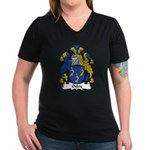 Oxley Family Crest Women's V-Neck Dark T-Shirt