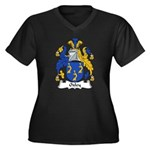 Oxley Family Crest Women's Plus Size V-Neck Dark T