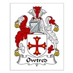 Owtred Family Crest Small Poster