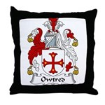 Owtred Family Crest Throw Pillow