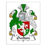 Owlton Family Crest Small Poster