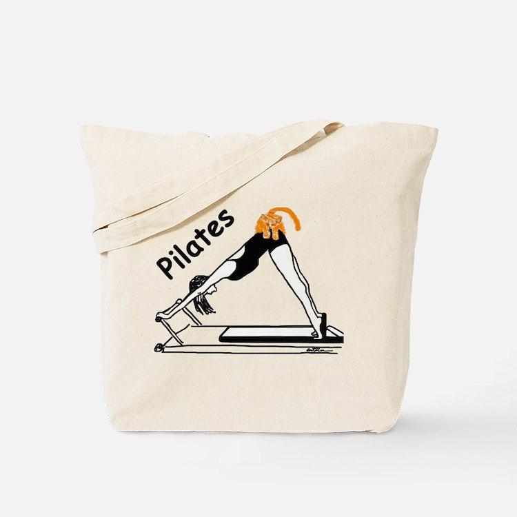 Pilates Cat Tote Bag