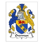 Overman Family Crest Small Poster