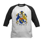 Overman Family Crest Kids Baseball Jersey