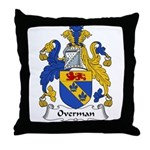 Overman Family Crest Throw Pillow