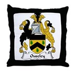 Ouseley Family Crest Throw Pillow